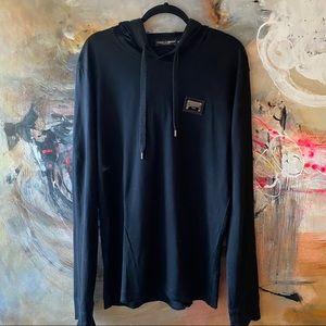 Dolce & Gabbana Black Lightweight Pullover Hoodie